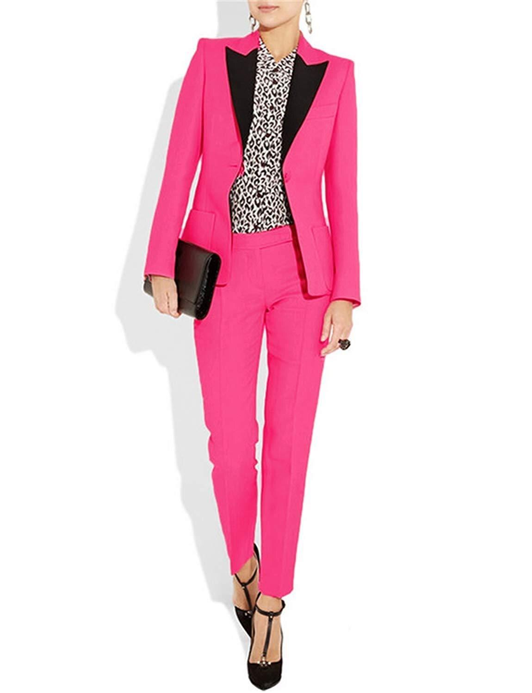 Женский Стильный костюм, осенний костюм из 2 предметов, блейзер с длинными брюками для офиса, Женский костюм под смокинг