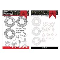 2021 new christmas seasonal wreaths metal cutting dies stamps scrapbook diary secoration embossing template diy card handmade