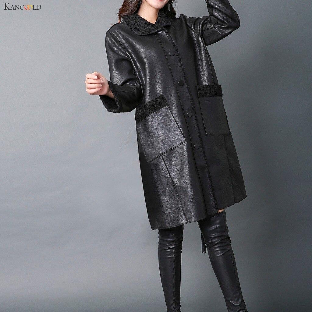 KANCOOLD casacos Outono Inverno Jaqueta De Couro das Mulheres Médio Longo Engrosse moda Casual novos casacos e jaquetas mulheres 2019Oct8