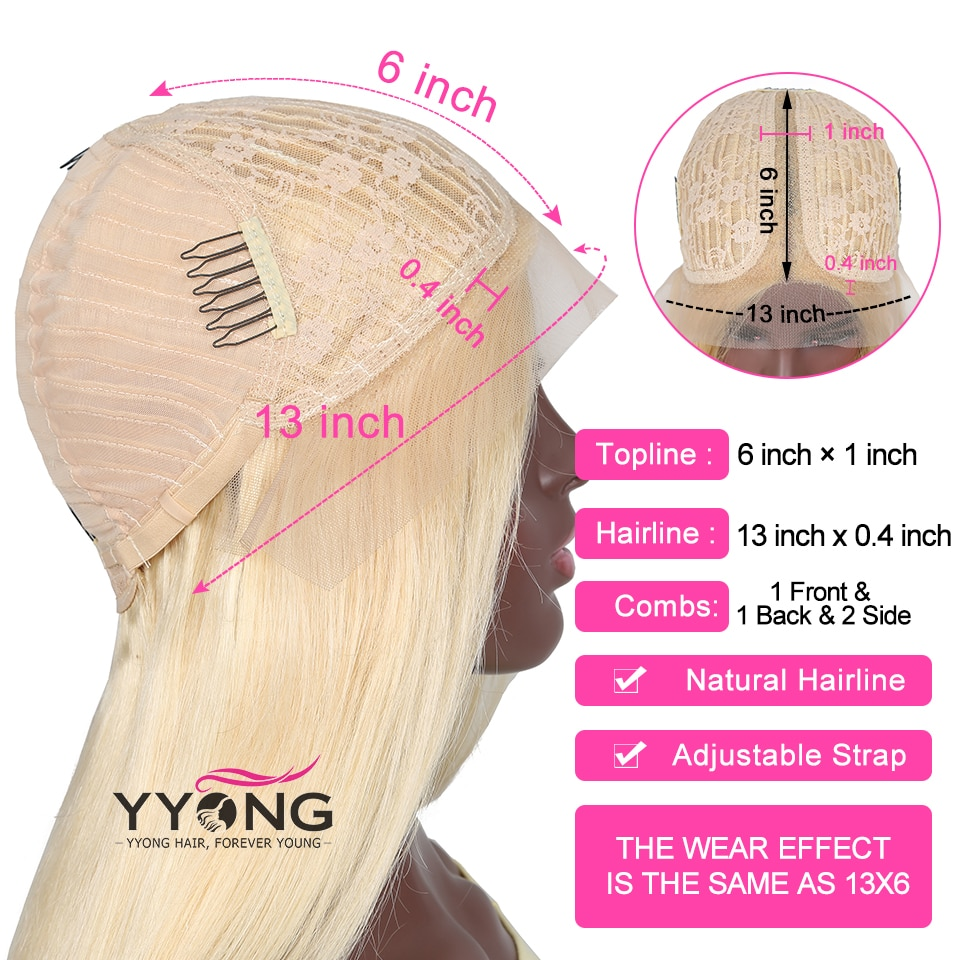 Yyong Hair Blond T Part Short Bob Lace Wigs 613 Straight Hd Lace Human Hair Wig Glueless Remy Honey Blond Bob Wig 120 Density Human Hair Lace Wigs Aliexpress
