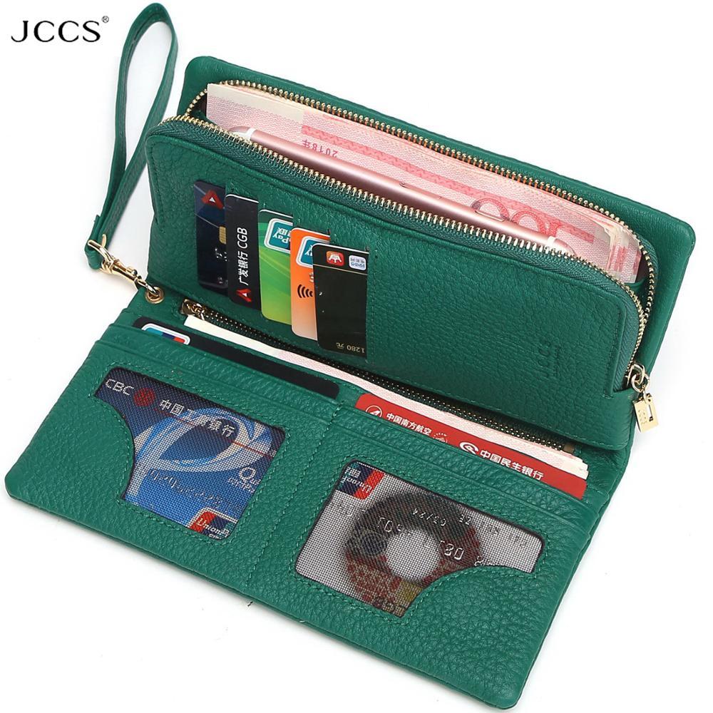 JCCS تصميم المحفظة موضة المرأة يوم مخلب حقائب جلدية حقيقية عملة محفظة مخلب حقائب المعصم قضية آيفون JS3205