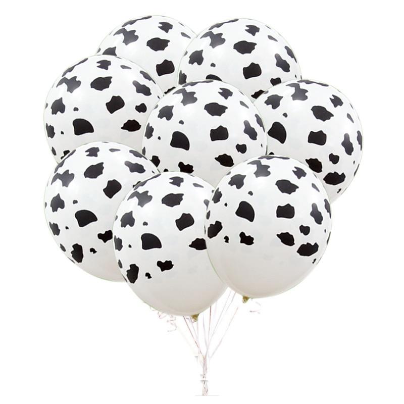10 pçs 12 polegada vaca balão casamento baloons redondo gênero revelar princesa decorações da festa de aniversário crianças adulto dia dos namorados