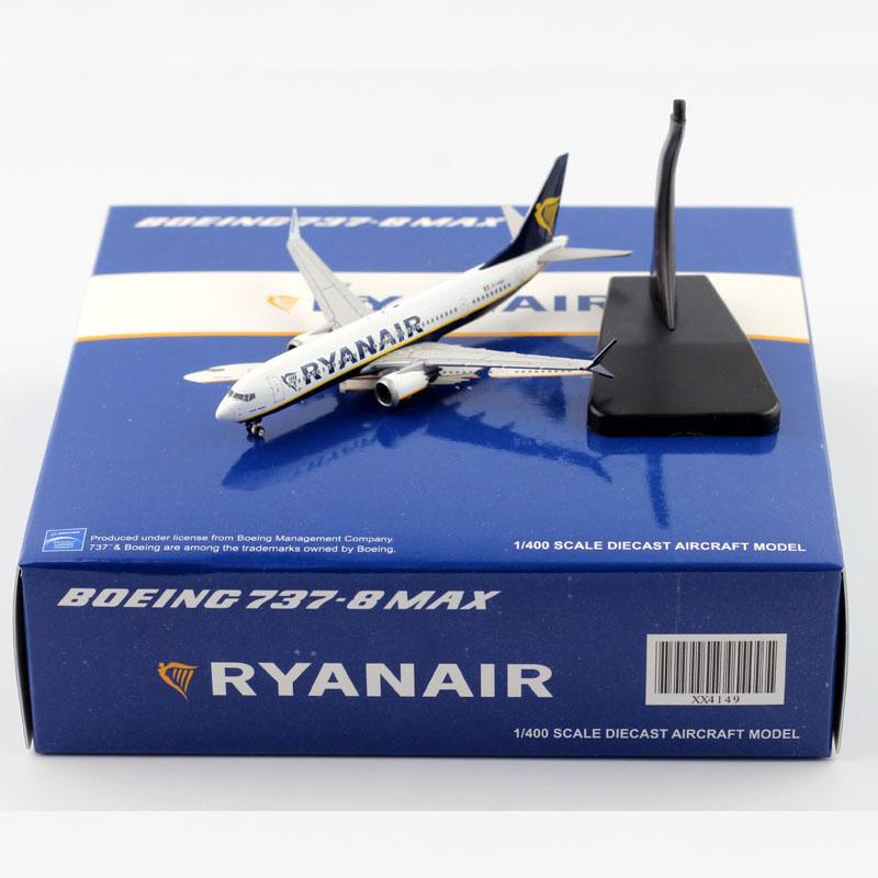 B737 Max8 RYANAIR plane 737 MAX 1/400 RYAN AIR Passenger Plane airline aircraft airliner model Toy