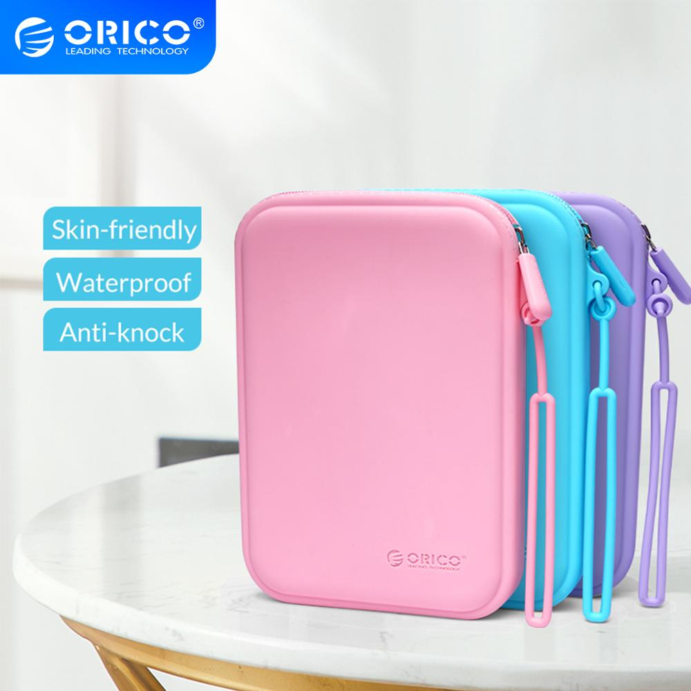 ORICO funda de silicona duradera portátil para auriculares Cable USB caja de almacenamiento protectora de disco U impermeable colorida