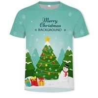 santa claus 3d printed t shirt for men or women outdoor soft casual loose o neck oversized t shirt new style available