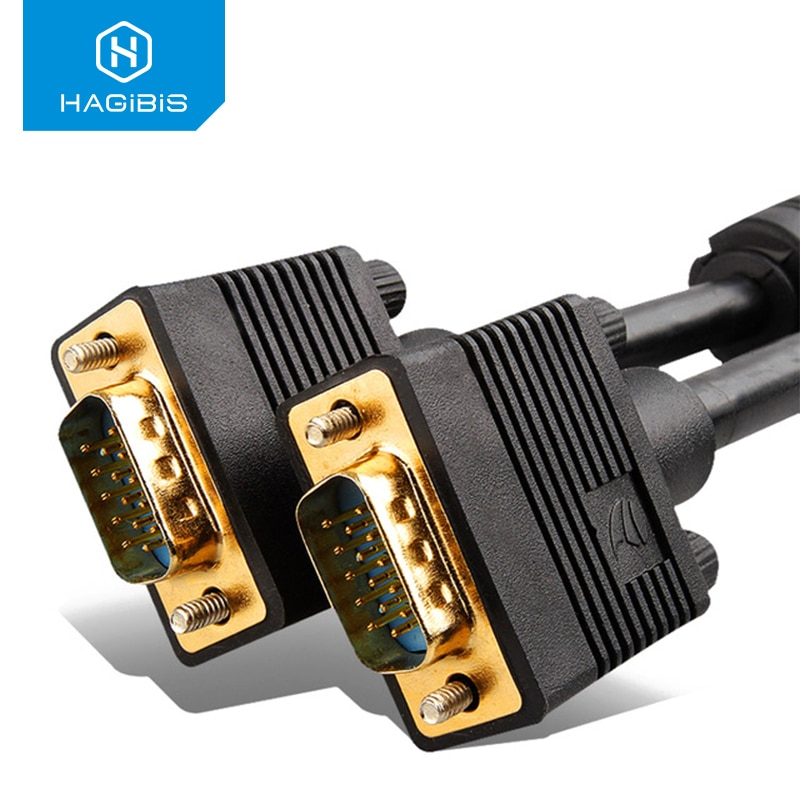 Cable VGA de 1080P de hagilis, convertidor macho a macho, protector de...