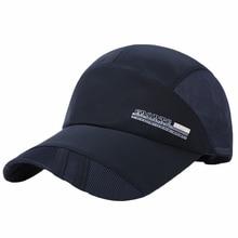 Adult Men Breathable Mesh Baseball Caps Cotton Comfortable Sunshade Sun Hat Snapback Caps Quick Dryi
