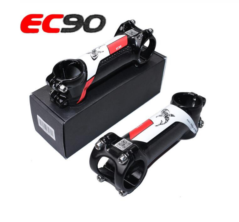 Ec90 haste de bicicleta riser, haste de bicicleta de montanha de estrada, carbono + liga de alumínio 60/70/ 80/90/100/110/120mm 28.6-31.8mm