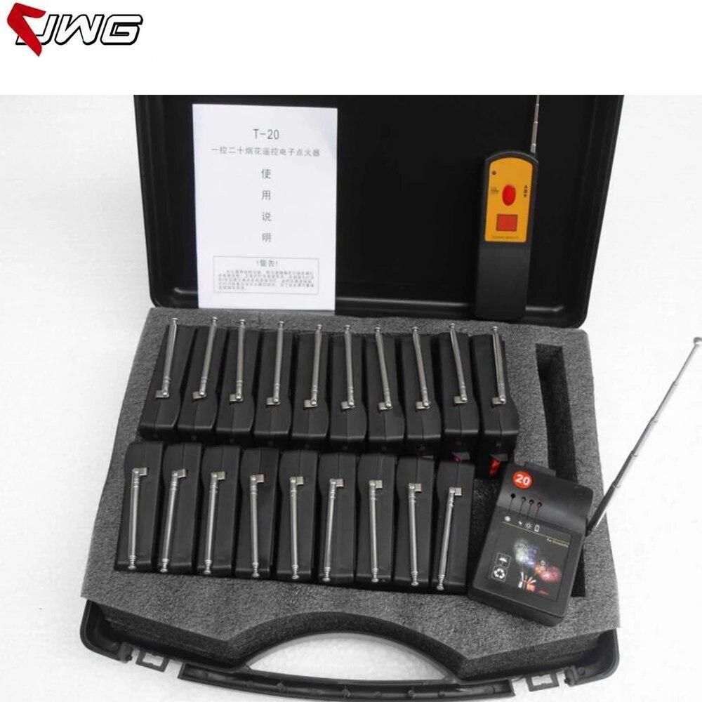 شحن سريع T20 20 قناة استقبال الألعاب النارية الرقمية التحكم عن بعد اللاسلكية مرحلة معدات الزفاف نافورة قاعدة آلة