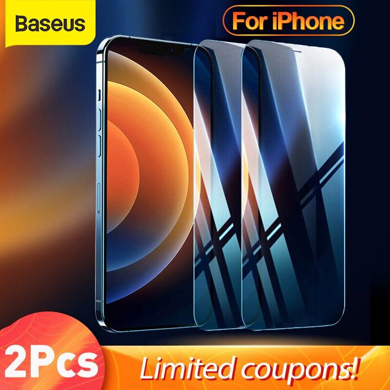 Закаленное стекло Baseus 2 шт. для iPhone 13 Pro Max, защита для iPhone 12 11 Pro Max, закаленное стекло, защитная пленка для экрана, стекло | Мобильные телефоны и аксессуары | АлиЭкспресс