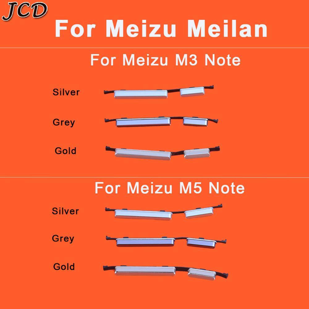 JCD botón lateral de encendido tecla de volumen piezas de repuesto para Meizu meilan Note 3 5 6