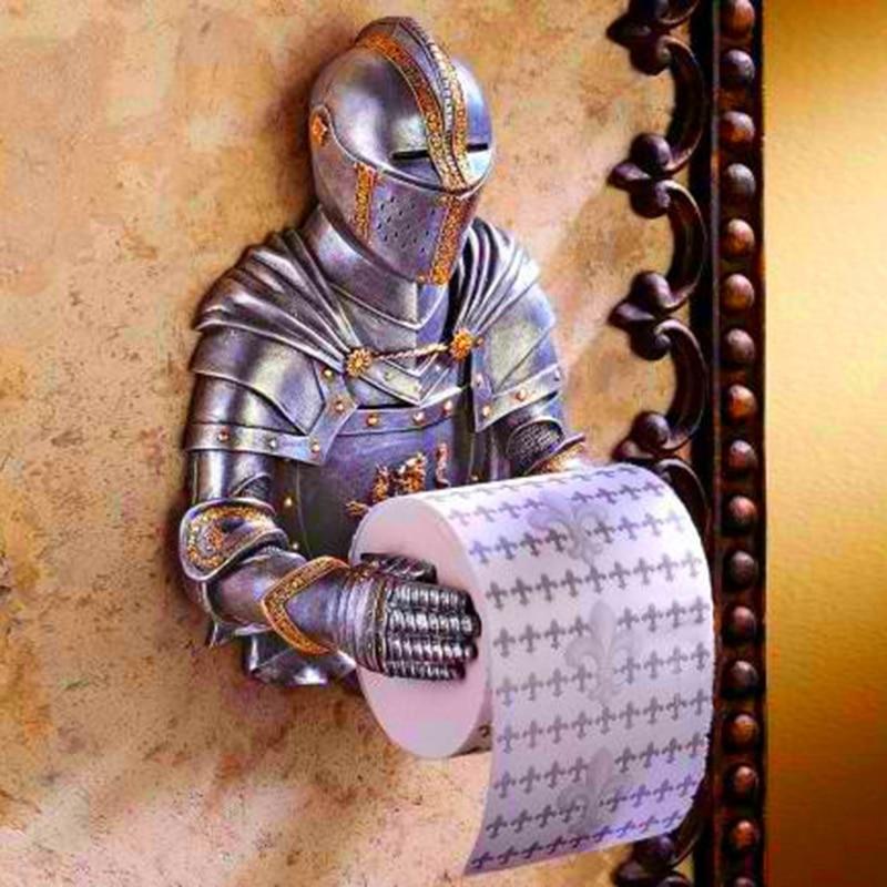 حامل مناديل الحمام القوطية ، حامل ورق المرحاض P7Ding ، فارس أن تذكر
