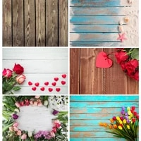 vinyl custom photography backdrops prop christmas flower wooden planks theme photography background 200901mb 04