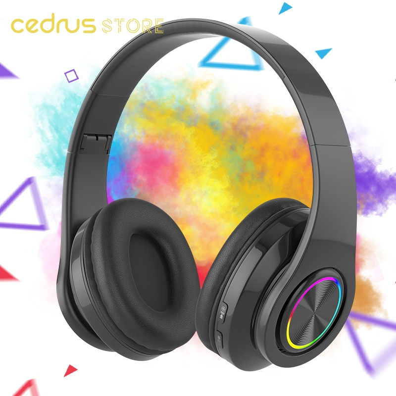 Cedrus Wireless Bluetooth headset headband with mic stereo closed helmets design Plegale noise canceling Gaming D enlarge