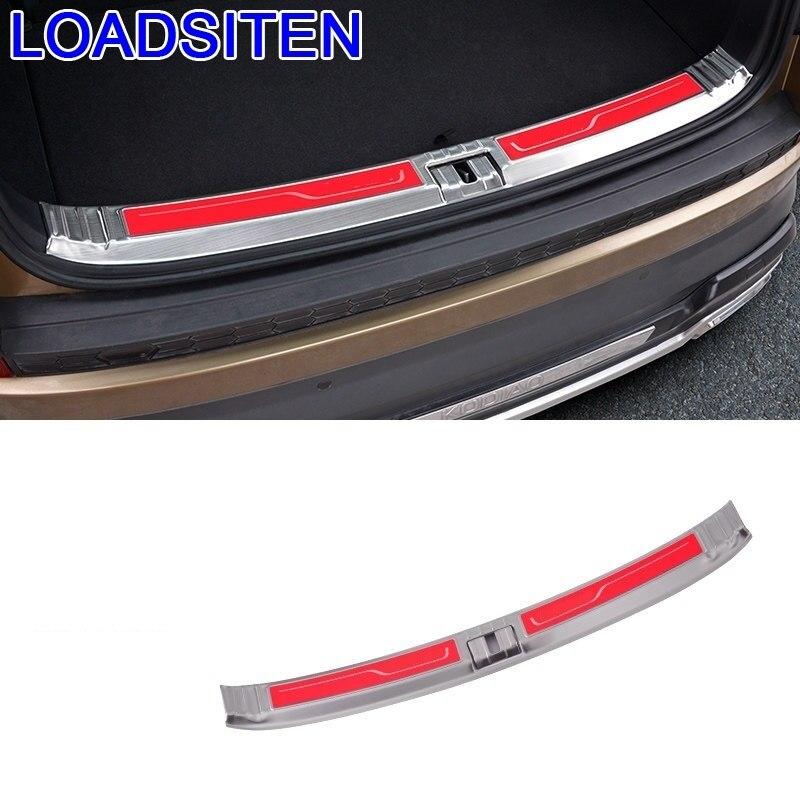 Paneles traseros de maletero modificado para coche, manija de la puerta del Pedal, tira adhesiva decorativa Exterior 18 19 para Skoda Kodiaq