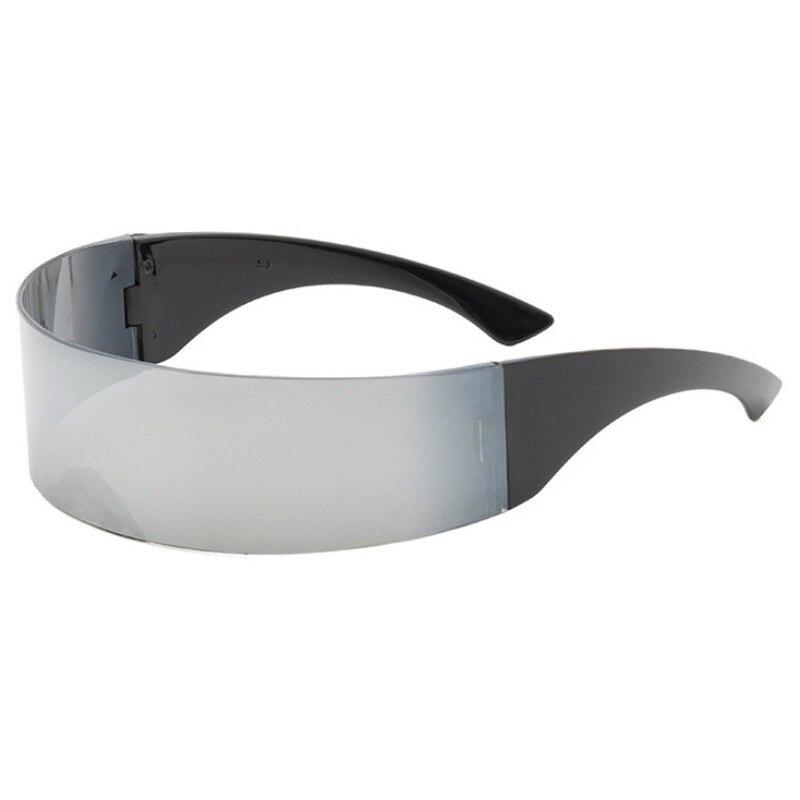 Hot Futurista Cyclop Óculos Partido Envolto Em Torno de Espelho Óculos Cosplay