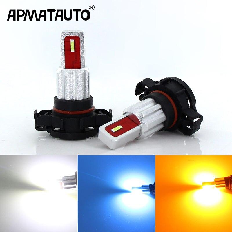 2Pcs H16 Lâmpada LED 5202 Luzes de Nevoeiro Carro DA UE 12V ~ 24V luz de Circulação Diurna DRL Auto 2000Lm diodo emissor de Luz 6000K Branco Cristal amarelo Azul