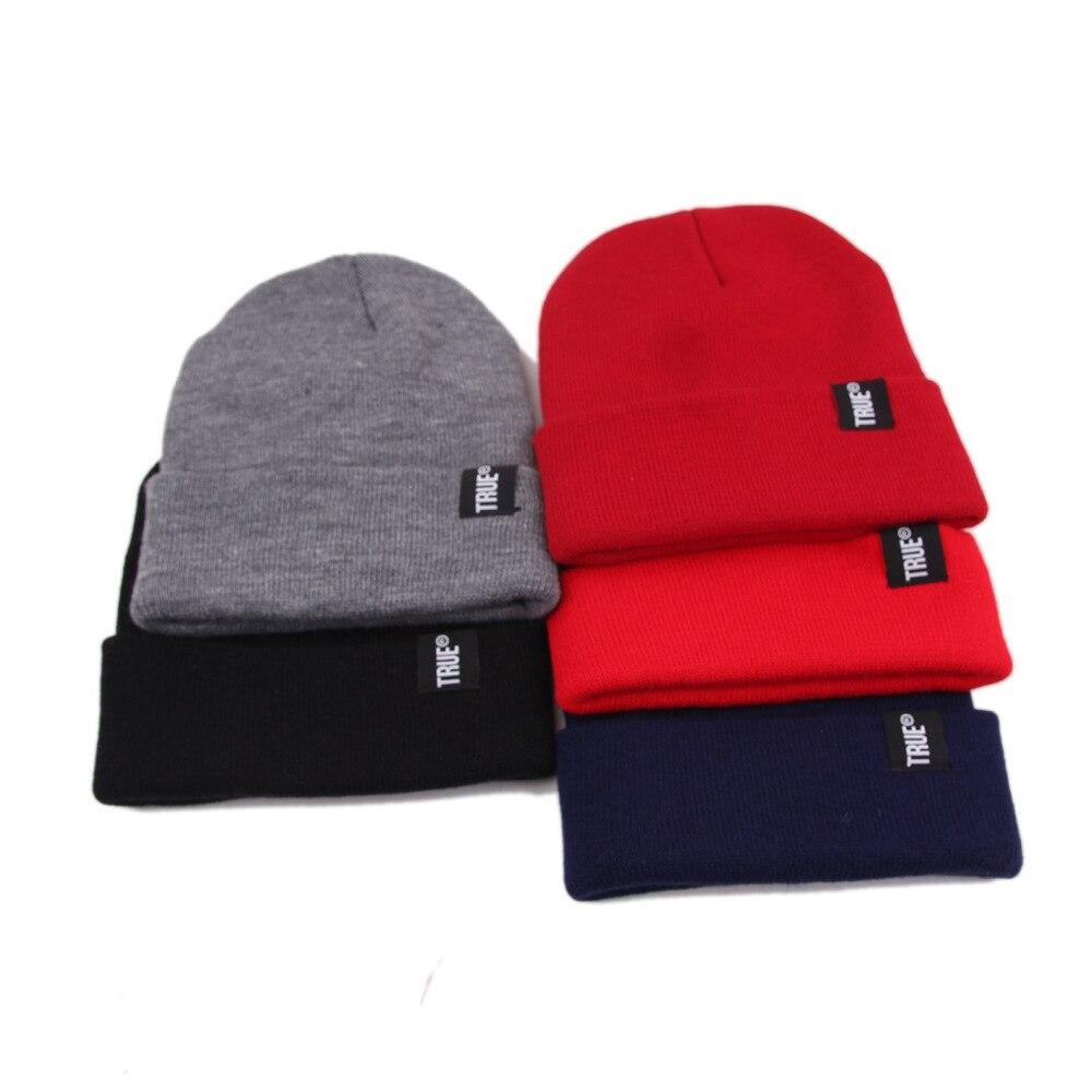 Зимние вязаные шапки, облегающие шапки, зимняя шапка с надписью True, мягкая шапка в стиле хип-хоп для мужчин и женщин, повседневные облегающие...