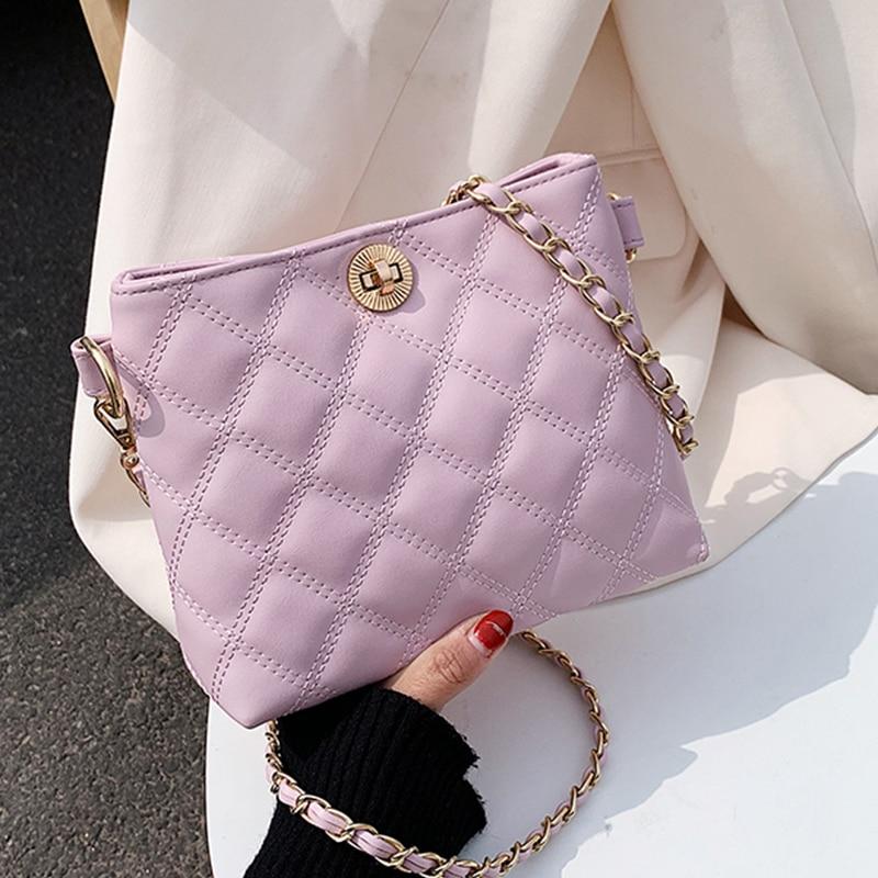 Женская сумка через плечо Fahion, кожаная стеганая сумка из искусственной кожи, роскошная дизайнерская женская сумка