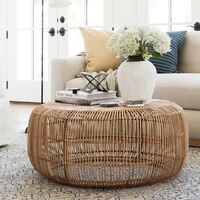 modern minimalist style hand woven rattan round coffee table side table home decoration
