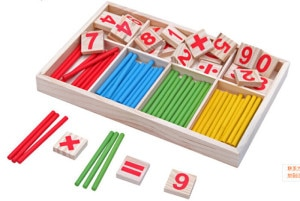Wooden Counting Game Mathematics Toy Wooden Colorful Learning Educational Math Toys For Children