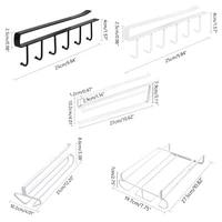6 hooks wine glass rack hanger wine cup paper roll holder bar goblet stemware storage racks shelf hanger iron kitchen organizer