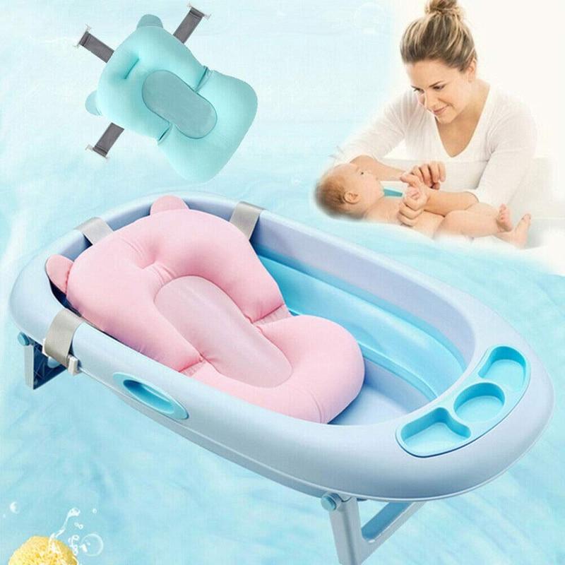 Baby Shower Bath Tub Seat Toddler Kids Bath Net Newborn Bathtub Non-Slip Baby Safety Shower Mat Infant Security Support