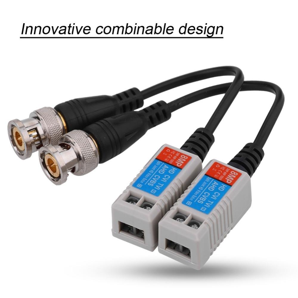1CH 8MP CCTV Camera Twisted Transmitter Passive Video Balun HD Transceiver BNC M for 2MP 5MP 8MP AHD CVI TVI CVBS Camera enlarge