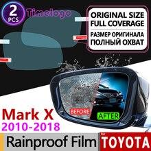 For Toyota Mark X 2010 2013 2015 2016 2017 X130 130 Anti Fog Film Cover Rearview Mirror Rainproof Anti-Fog Films Accessories