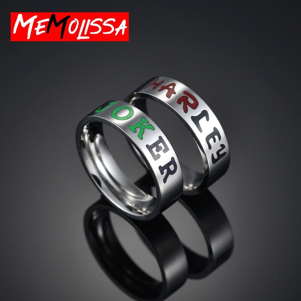 Anillos de dedo de alta calidad de 6mm de acero inoxidable, JOKER HARLEY, anillo de pareja, anillo Simple de moda para mujer y hombre, regalo de joyas de fiesta
