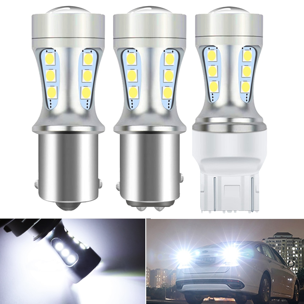 2X 1157 LED BAY15D P21/5W bombilla LED de freno de coche de la luz de marcha atrás BMW E53 E70 F10 F30 F20 E87 M3 M5 E60 E90 E91 E92 E36 E30 E39 E46