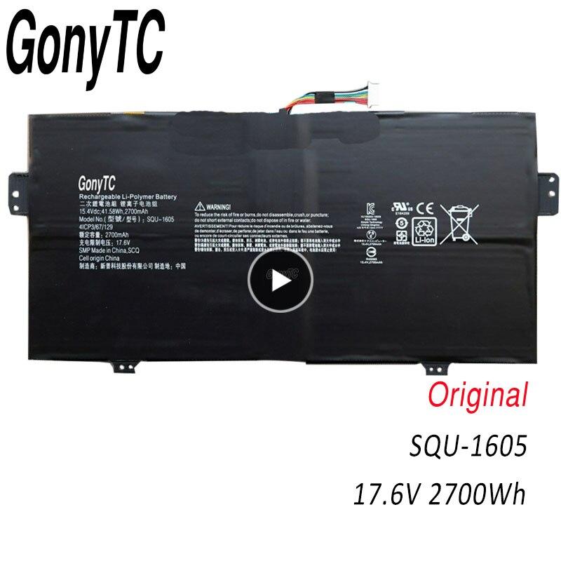 Gonytc SQU-1605 original novo SQU-1605 41cp3/67/129 bateria do portátil para acer swift 7 SF713-51 S7-371, rotação 7 SP714-51