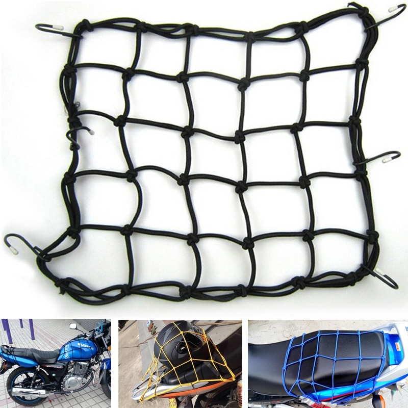 Hot Sale High quality Universal Bungee Cargo Net for Motorcycle Bike ATV Offroad Board GoCart accessories Helmet / Fuel tank