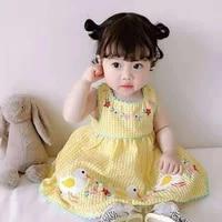 2021 newborn girls dresses summer cute wear christening party wedding dress baby girls lace vestido infantil princess clothes