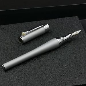 Old Stock Shanghai Fuliwen Royal Silver Fine nib Fountain Pen 33g Snap Cap Stationery Office school supplies penna stilografica