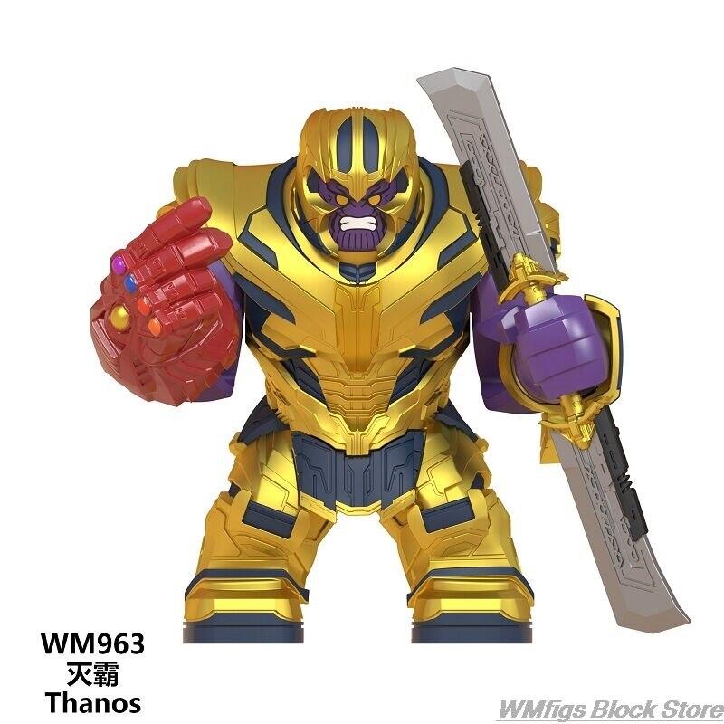 Figuras de bloques de construcción de los vengadores WM963, nueva espada de doble filo de Thanos, guantes Infinity, serie Marvel, Iron Man, juguetes para niños