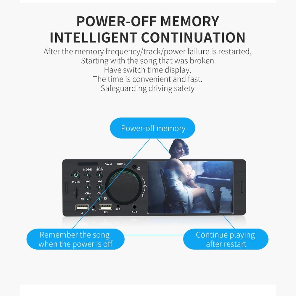 4,1 pulgadas de alta definición de pantalla grande inalámbrico coche reproductor Mp5 coche tarjeta MP4 Radio Host 7805C versión de pantalla táctil