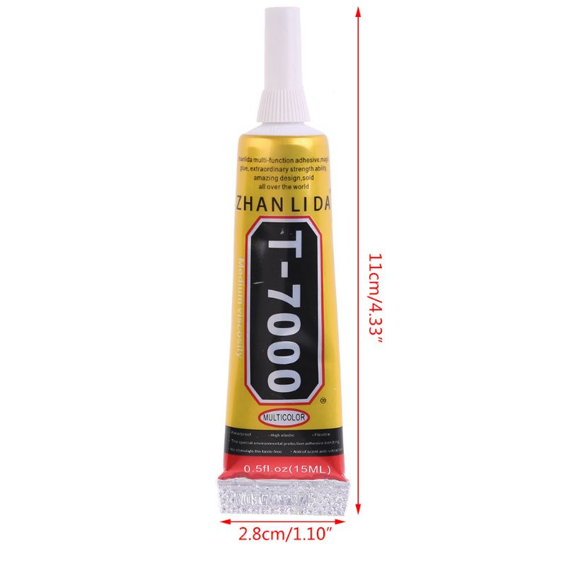 Pegamento de resina epoxi superadhesivo para reparación de grietas, sellador de Marcos, 15ml, T-7000