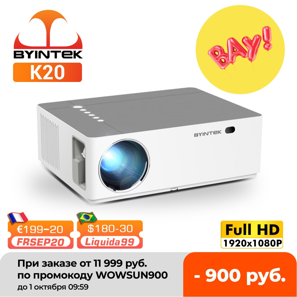 Review BYINTEK Brand K20 Full HD 1080P 1920×1080 Smart Android Wifi LED Video Game Home Theater 3D Projector Beamer For 300inch Cinema