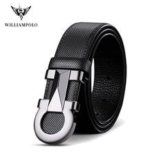 Williampolo 2020 100% воловья кожа мужской автоматический ремень с пряжкой люксовый бренд Повседневный Пояс на талию PL18226-28P