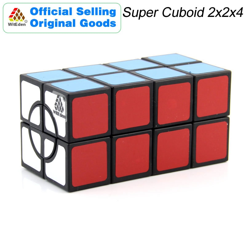 Witeden super 2x2x4 cubo mágico cuboid 224 cubo mágico velocidade profissional neo cubo quebra-cabeça kostka antiestresse brinquedos para o menino