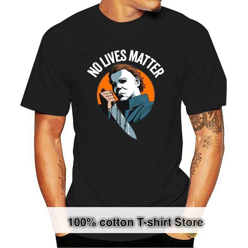 Camiseta de Horror de Michael Myers para hombre y mujer camisa negra...