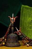 8tibet temple collection old bronze tracing rattle sakyamuni statue bells vajra set pendant gem town house exorcism