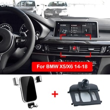 Support pour téléphone Mobile pour BMW X5 X6 2015 2016 2017 2018 support de montage pour évent support pour téléphone GPS support de fixation dans les accessoires de voiture