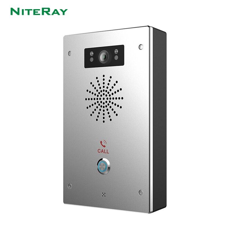 Videoportero con vista nocturna IP65, intercomunicador de puerta a prueba de agua con PIR LED SIP, visor digital, intercomunicador completo y doble