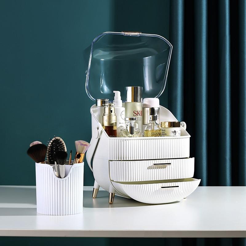 درج مكياج VIP Fashion ، صندوق تخزين للماكياج ، حامل فرشاة الحمام ، حامل سطح المكتب من الأكريليك للمجوهرات ، منظم للعناية بالبشرة التجميلية