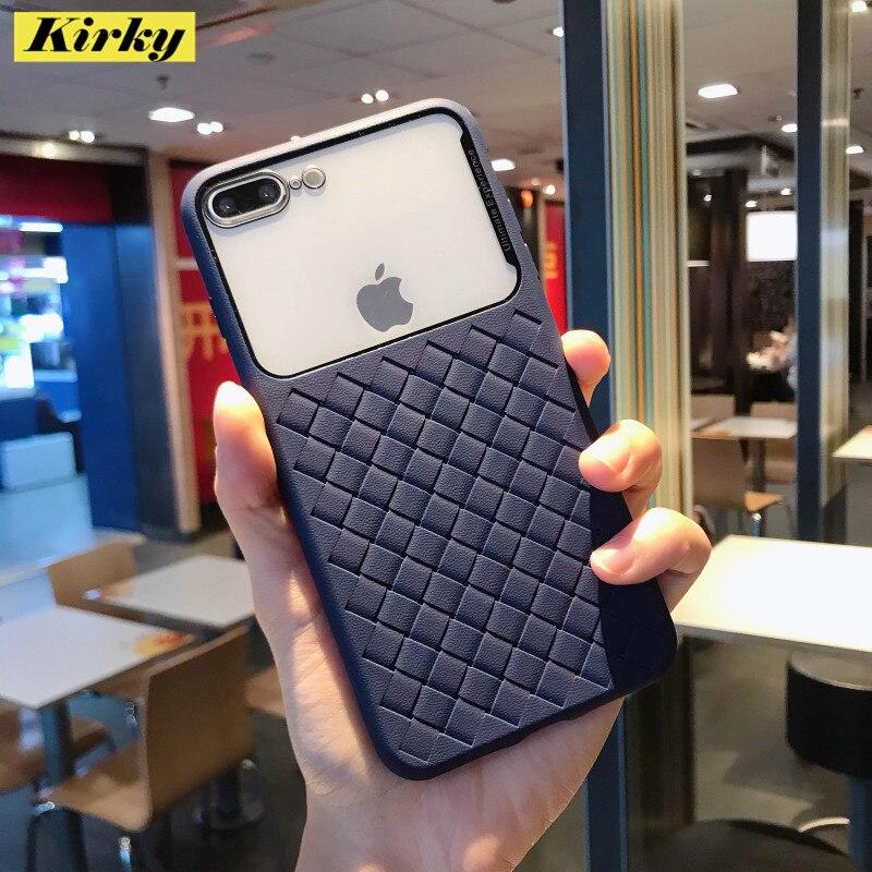 Moda tecer padrão transparente caso de telefone para iphone 11 pro max xr x xs max 8 7 plus 6 s 11 silicone macio à prova de choque capa traseira