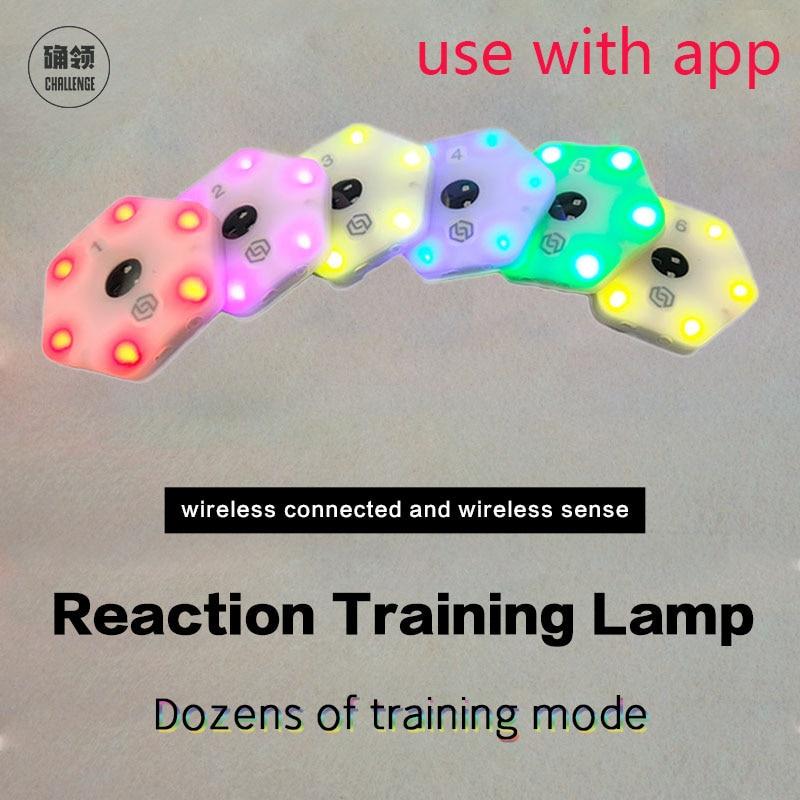 【Queling】 رد فعل التدريب ضوء مصباح سرعة خفة الحركة معدات الاستجابة كرة السلة الملاكمة fitlight blazepod siboasi