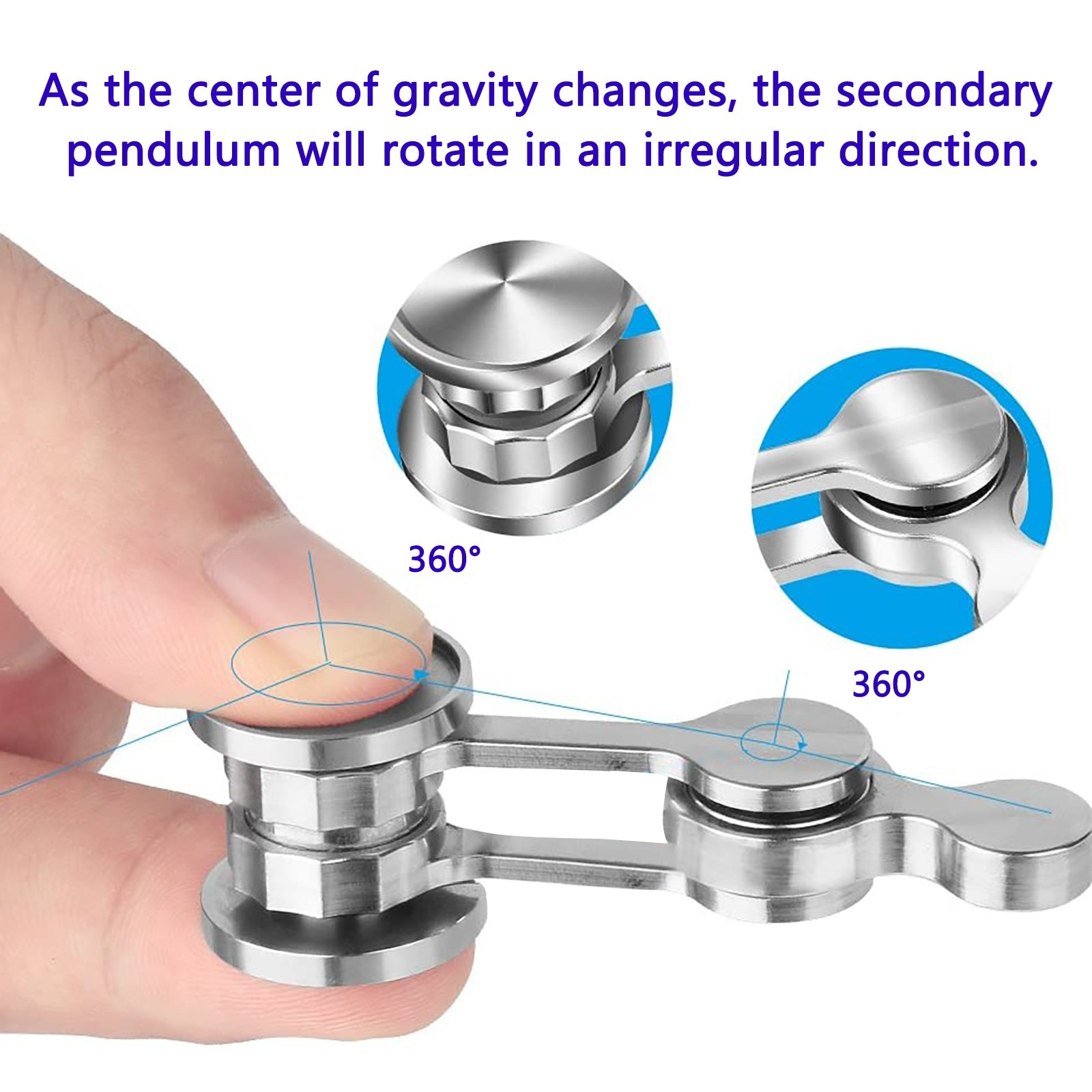 Fidget Toys Metal Spinner Antianxiety Restlessness Toys Chaos Pend ulum Fingertip Spinning Tops Stress Relief Toys Kids Gifts #5