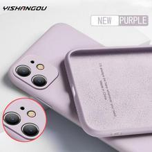 Weiche Flüssigkeit Silikon Fall Für iPhone 11 Pro Max X XS Max XR SE 2020 7 8 6 6S plus 7 8 Plus Luxus Kamera Schützen Telefon Abdeckung